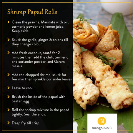 Shrimp Papad Roll Anyone?